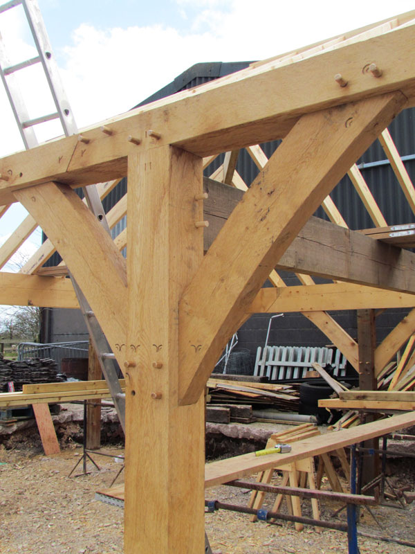 Oak timber framing ringehay heritage building company for Building a timber frame